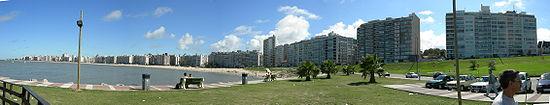 Praia Pocitos e Rio da Prata