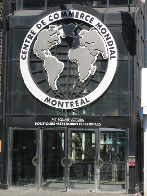 World Trade Centre Montreal - Victoria Square entrance