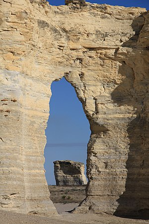 Monument Rocks (Kansas) - View of the Monument Rocks