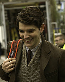 Morgan on the filming set of Testament of Youth.jpg