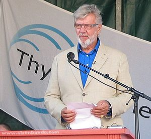 Morten Grunwald - Morten Grunwald hold his speech at the Olsen Gang Event in Thisted.