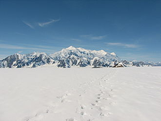 Mount Logan - Mount Logan from the North East, as seen from Kluane Icefield