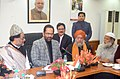 Mukhtar Abbas Naqvi, at a meeting with Maulana Azad Education Foundation and Representatives of Madrasas from across the country, in New Delhi (1).jpg