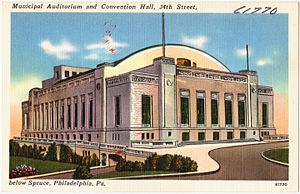 Philadelphia Convention Hall and Civic Center - Image: Municipal Auditorium and Convention Hall, 34th Street, below Spruce, Philadelphia, Pa (61770)