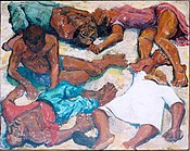 Painting depicting the victims of the Sharpeville massacre