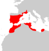 Mus spretus range map