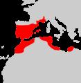 Mus spretus range map.png