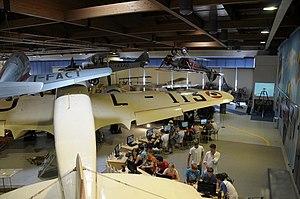 Museo dell'Aeronautica Gianni Caproni S.79 and flight simulation.JPG