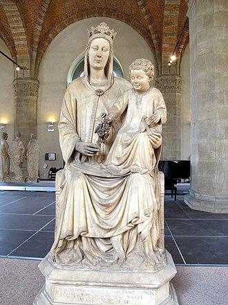 Madonna of the Rose (Orsanmichele) - Image: Museo di orsanmichele, pietro di giovanni tedesco (attr.), madonna della rosa 01