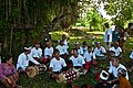 Musicians for the procession and cremation ceremony Bali Indonesia.jpg