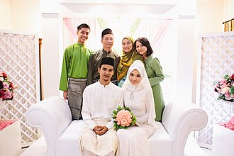 Religious clothing - Islamic Modest clothing worn at a Wedding Ceremony