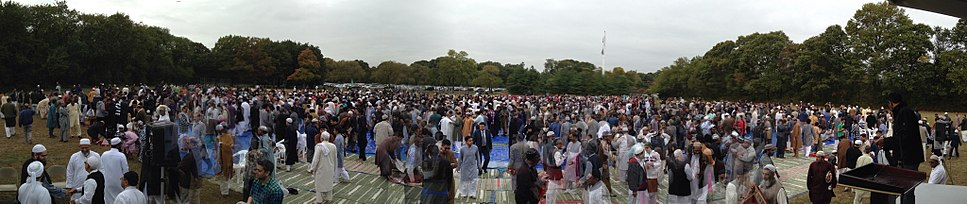 Muslims after Eid Prayer at Valley Stream Park, Long Island, New York, United States of America