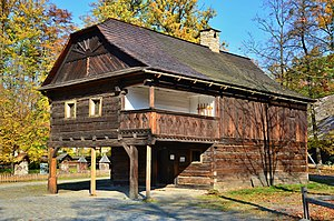 Moravian Wallachia - Wallachian vernacular architecture: open-air museum (skansen) in Rožnov pod Radhoštěm.