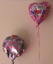 Balloons, like greeting cards or flowers, are given for special occasions.