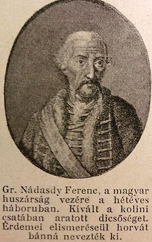 Nádasdy family - Ferenc Nádasdy (1708–1783)