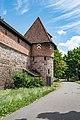 Nürnberg, Stadtbefestigung, Frauentormauer, Mauerturm Rotes O 20170616 001.jpg
