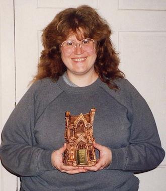 Bram Stoker Award for Best First Novel - Nancy A. Collins with her Bram Stoker Award