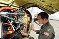 NAF Misawa crew members conduct pre-flight inspection on UC-12F Huron 120720-N-ZI955-014.jpg