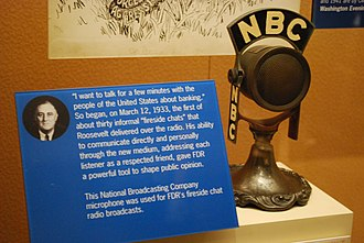 Fireside chats - NBC microphone used for FDR's fireside chat radio broadcasts