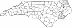 Location of Creswell, North Carolina
