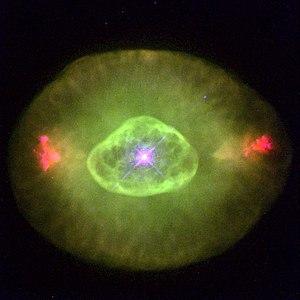 Green star (astronomy) - The green planetary nebula NGC 6826