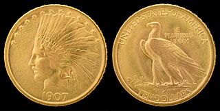 Indian Head eagle United States $10 gold piece
