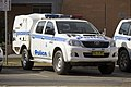 NSWPF Wagga Wagga (WW15) Toyota Hilux at the front of Wagga Wagga Police Station in Tarcutta Street.jpg