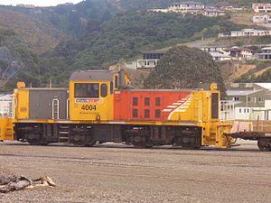 New Zealand DSJ class locomotive - DSJ 4004 in Picton, April 2012.