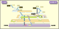 Nagoya Daigaku station map Nagoya subway's Meijo line 2014.png