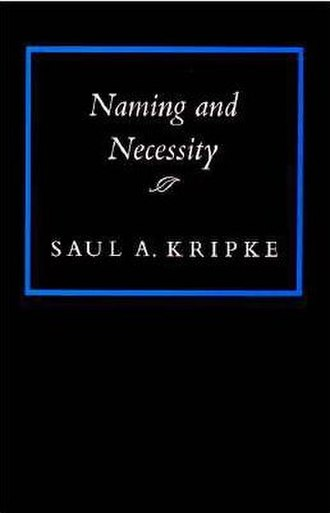 Saul Kripke - Cover of Naming and Necessity