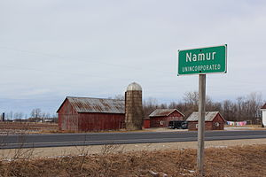 Belgian Americans - Namur, Wisconsin, a Belgian American settlement named after the Belgian city of Namur