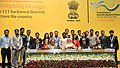 Narendra Modi in a group photograph with the youth who have been working in rural areas under Prime Minister's Rural Development Fellows (PMRDF) scheme, in New Delhi. The Union Minister for Rural Development (2).jpg