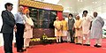 Narendra Modi inaugurates the New Civil Air Terminal, at Chandigarh airport. The Governor of Punjab and Haryana and Administrator, Union Territory, Chandigarh, Prof. Kaptan Singh Solanki, the Chief Minister of Punjab.jpg