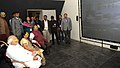 Narendra Modi watching the Exhibition of Dandi Kutir in Mahatma Temple premises, Gandhinagar on January 08, 2015. The Chief Minister of Gujarat, Smt. Anandiben Patel and other dignitaries are also seen.jpg