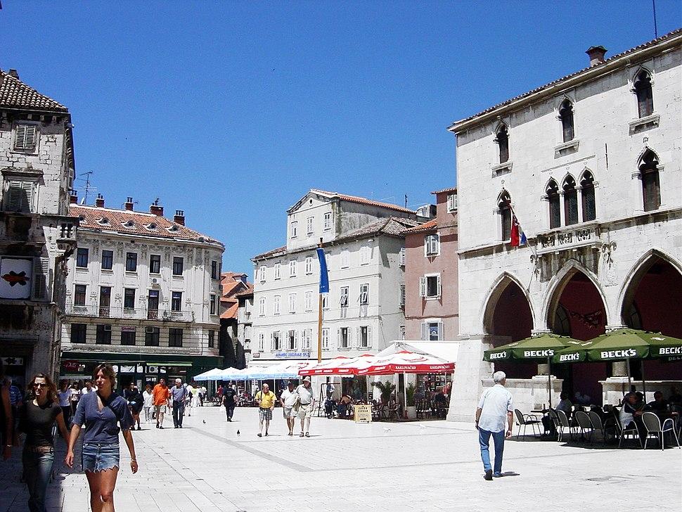 The Pjaca city square in Split.