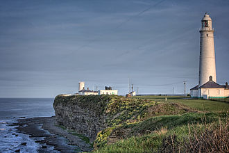 Nash Point - Low Tower, Keepers cottages, Fog Horn house and Lighthouse at Nash Point