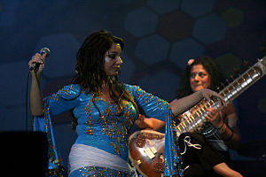 Sheema Mukherjee - Image: Natacha Atlas Performing Live