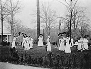 May Day festivities at National Park Seminary in Maryland, 1907.