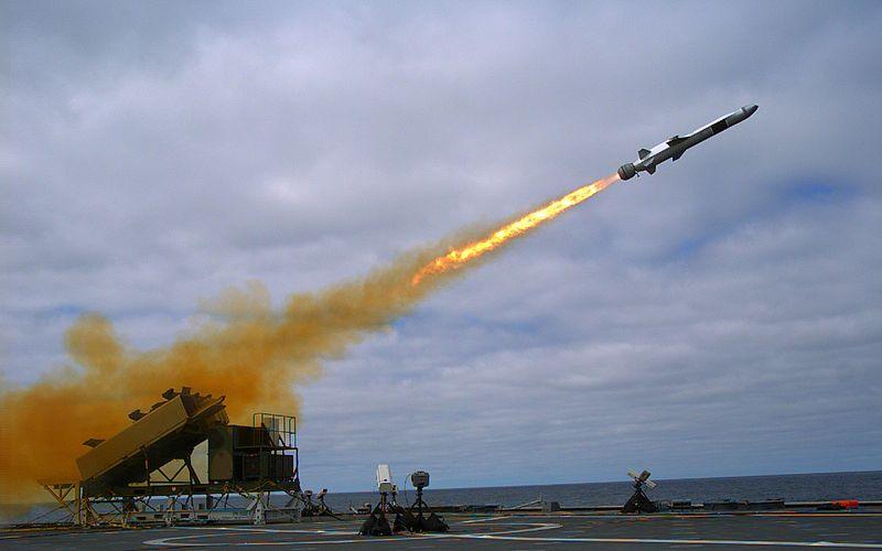 Lancio del missile d'attacco navale dalla USS Coronado (LCS-4) nel settembre 2014.JPG