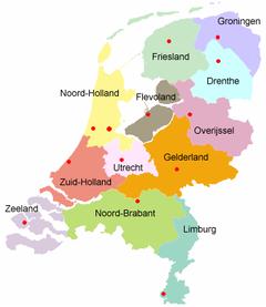 De provincies van Nederland