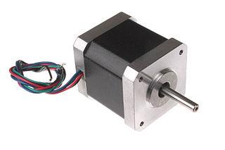 Photo of a stepper motor