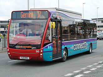 Warrington's Own Buses - Network Warrington connect17 liveried Optare Versa in Orford in 2013