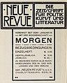 Neue Revue. Die Zeitschrift für Politik, Wirtschaft und Kultur, 1909.jpg
