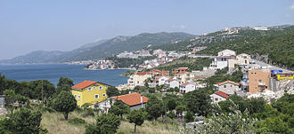 Neum - View towards Neum on the Adriatic Sea in Bosnia and Herzegovina, summer 2010.