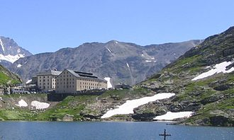 Great St Bernard Hospice - View from the lake