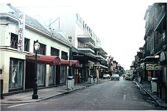 Al Hirt - Al Hirt club on the corner of Bourbon Street and St Louis in the French Quarter, 1977