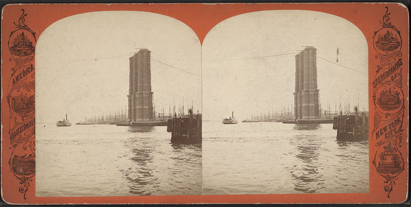File:New York tower of East River bridge, from Robert N. Dennis collection of stereoscopic views 2.jpg