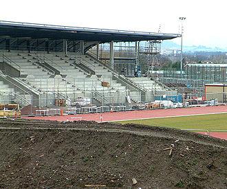 Cardiff International Sports Stadium - Image: New leckwith athletics stad