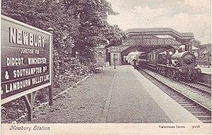Newbury railway station - Newbury in the early nineteenth century