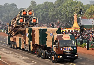 Nirbhay - Nirbhay missiles mounted on a truck-based launcher